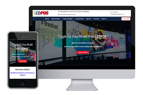 responsive website led pos