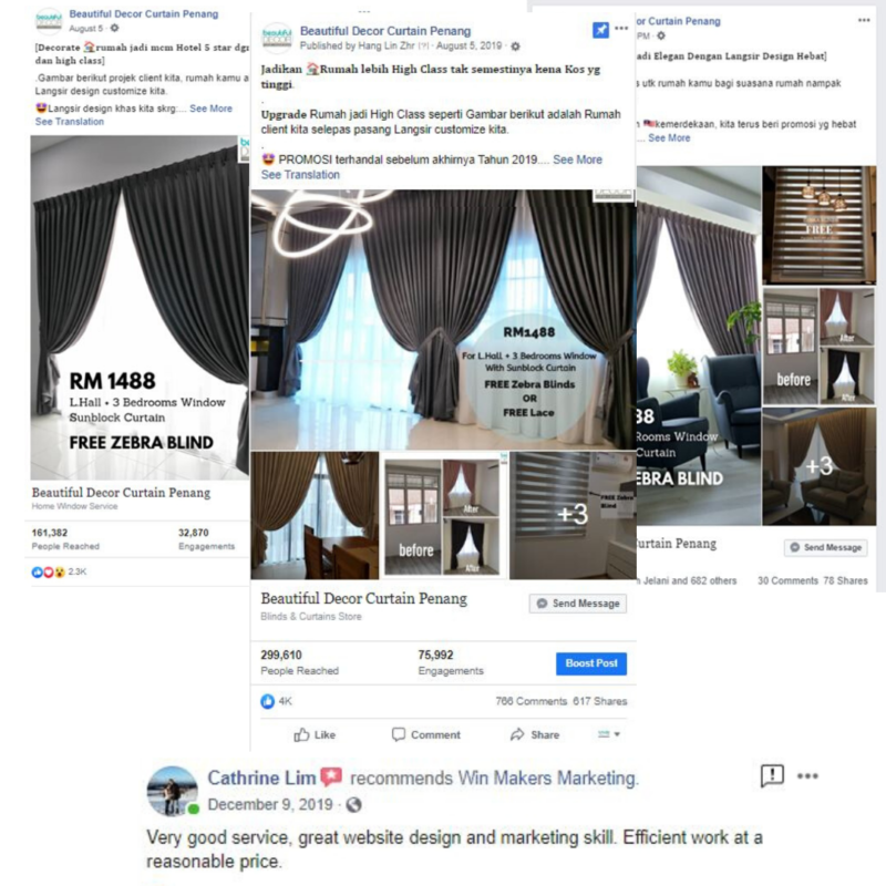 Facebook Marketing Results of client in Penang e1580048767268