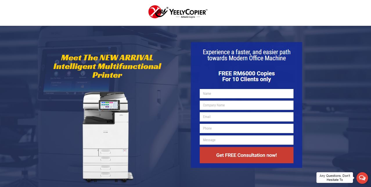 Google Ads and Facebook Marketing for B2B photocopier