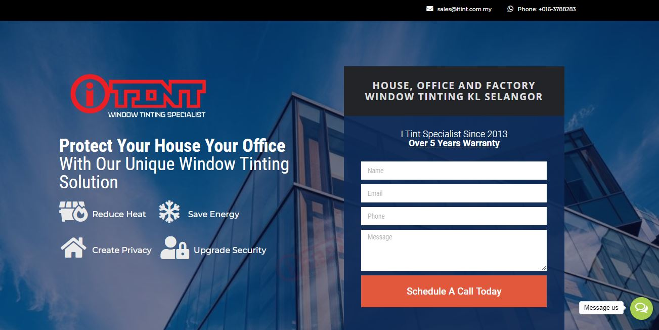 Google Ads service for B2B Window Tint