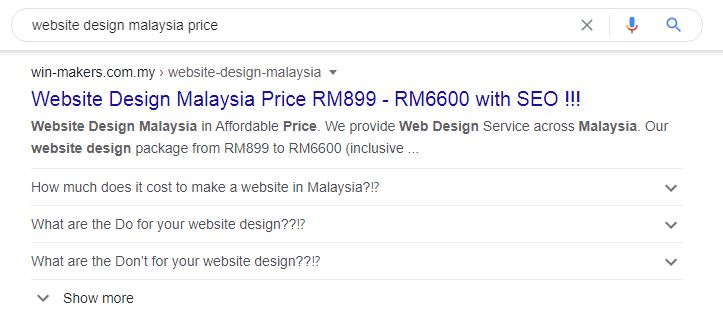 SEO-Price-Malaysia FAQ schema