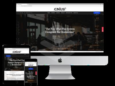 SEO Website Design for Genius Pos